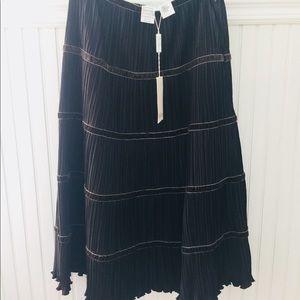 MaxMara Brown Midi Skirt. Size 8. New With Tags.